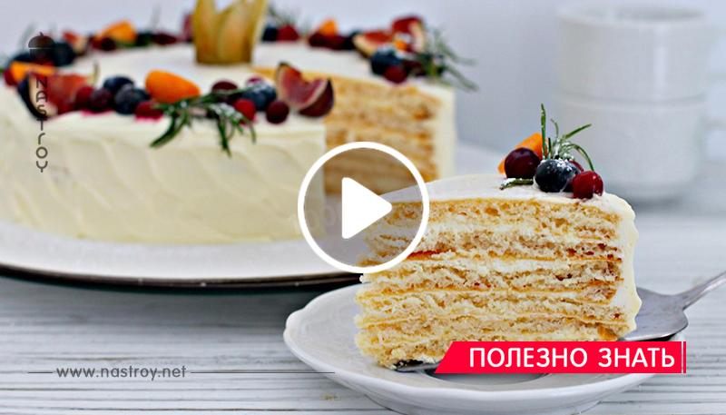 Торт «Молочная девочка» за 30 минут вместе с выпечкой
