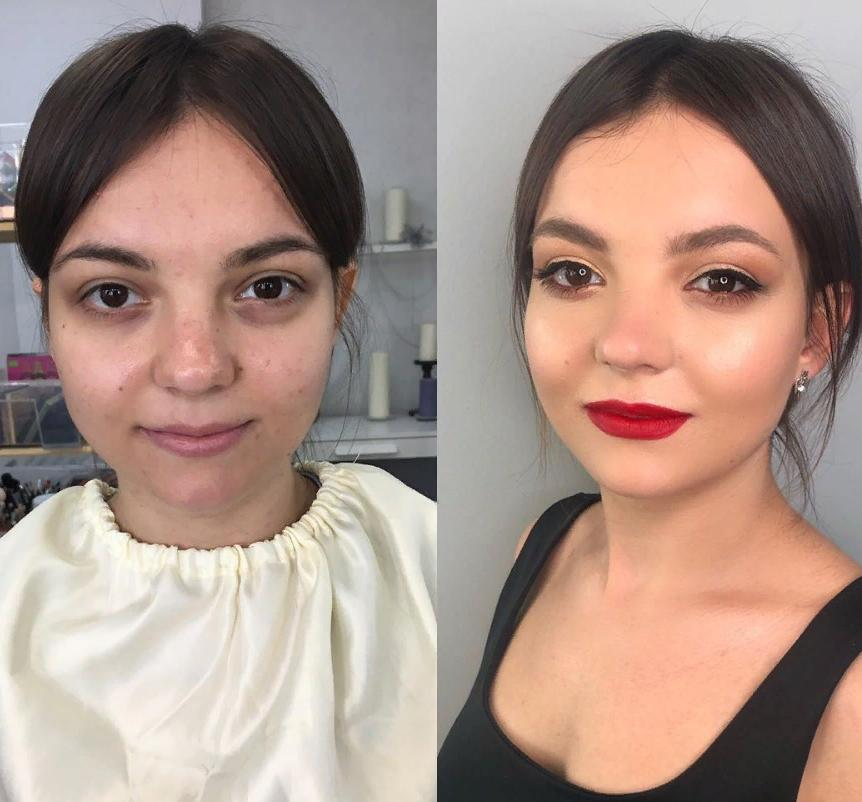 Из обычной девушки в голливудскую звезду: 10 фотографий, показывающих удивительную силу макияжа