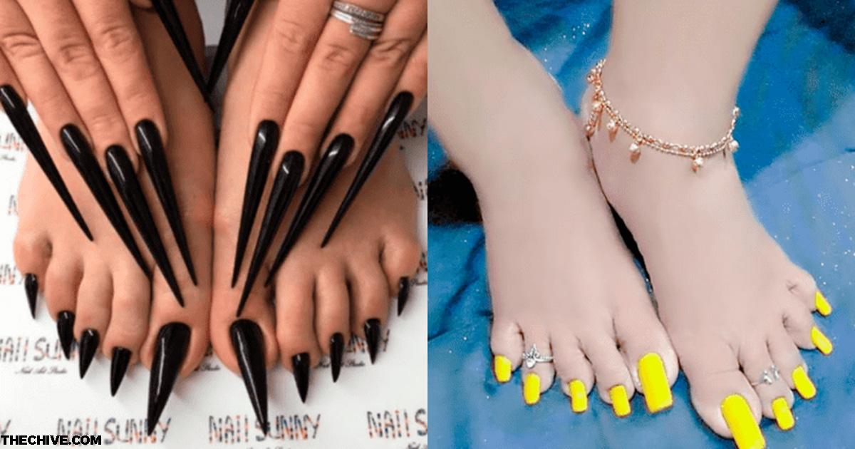 Длиннющие ногти на ногах   новый тренд этого лета. Вы бы смогли?