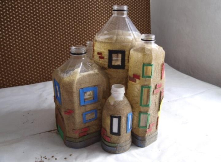 Не выбрасывайте пластиковые бутылки! Я расскажу, как из них сделать сказочный замок для детей