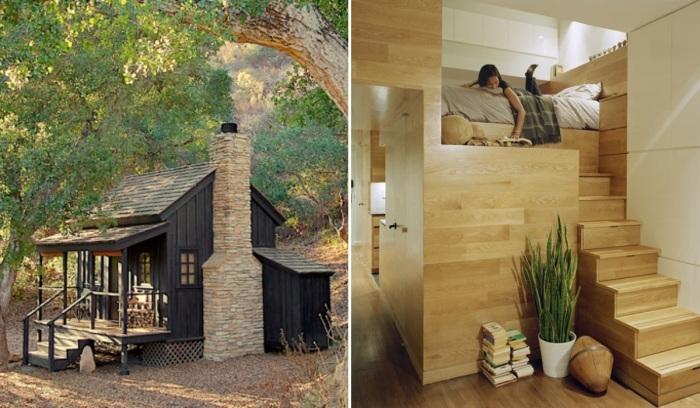 7 крошечных домов, каждый сантиметр которых используется с умом (26 фото)