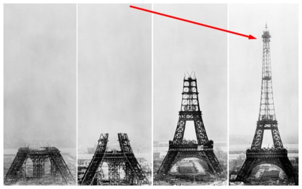 На вершине Эйфелевой башни было обнаружено необычное сооружение, которое до сих пор не перестает удивлять