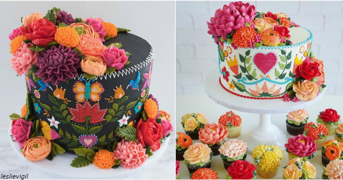 Эти торты выглядят так, будто их сделали иголками и нитками
