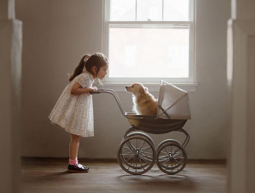 Трогательная дружба: женщина делится фотографиями своей дочери и ее собаки по кличке Джек