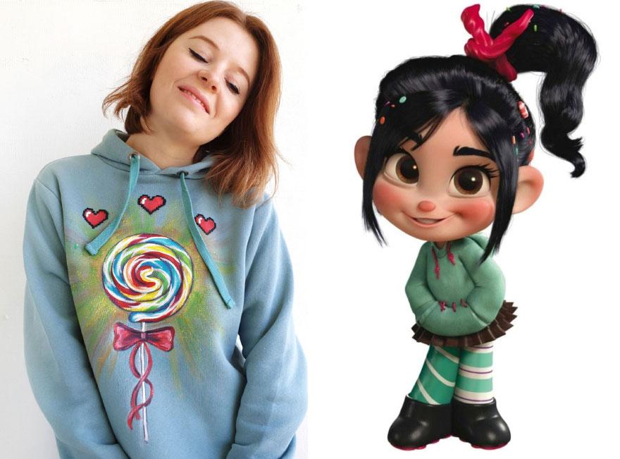 Девушка превращает базовые элементы гардероба в настоящие произведения искусства: фото