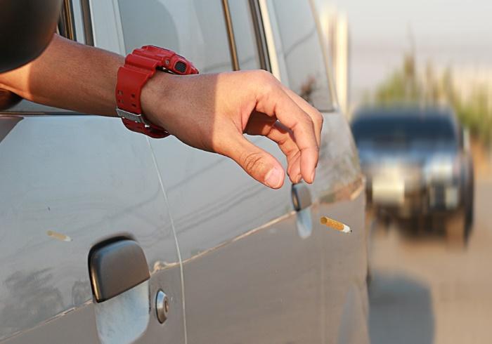Водитель выкинул окурок перед полисменом. Тот преподал ему хороший урок