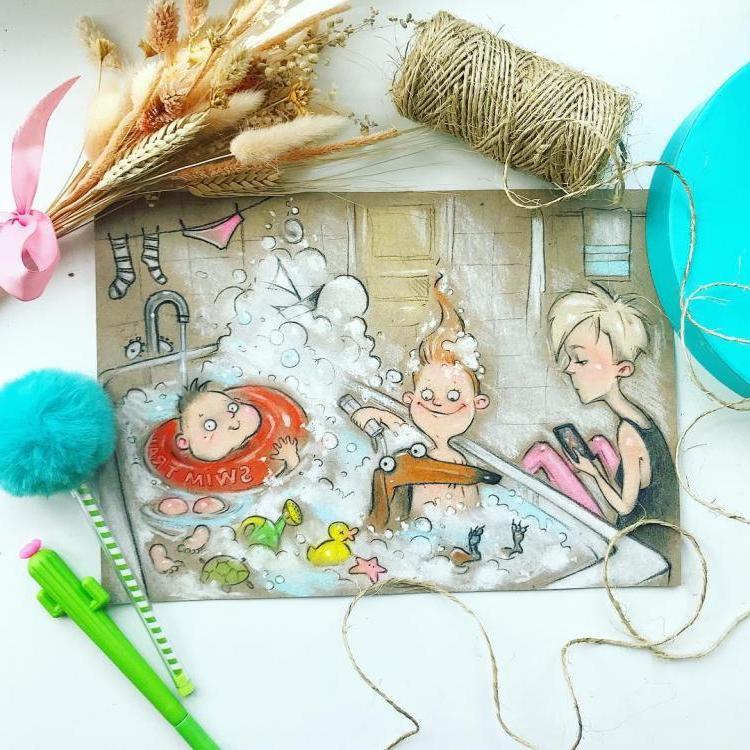Забавные иллюстрации, которые показывают, как на самом деле выглядит жизнь матери двоих детей