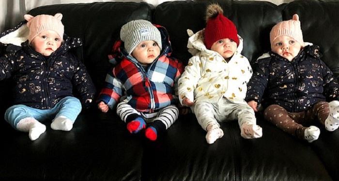 После 3 лет безуспешных попыток зачатия у пары родились четверняшки. Как живет многодетная семья