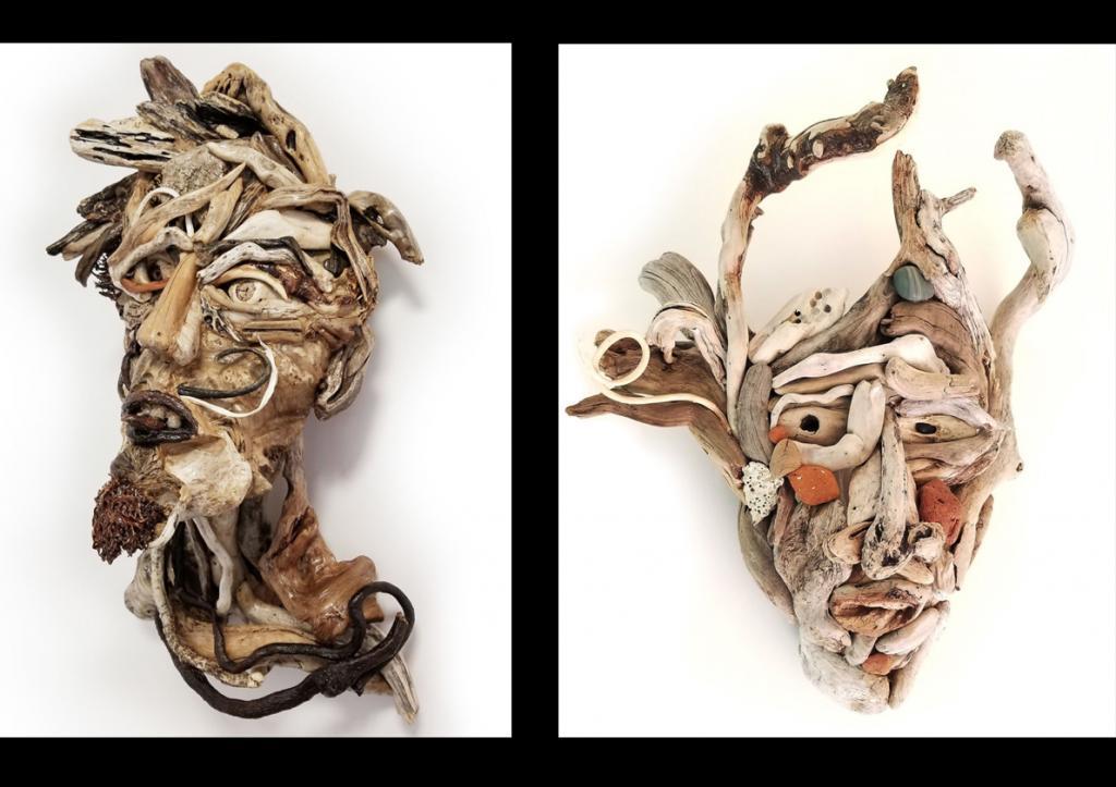 Я делаю портреты из коряг и морского дерева : как выглядят эти необычные произведения (фото)
