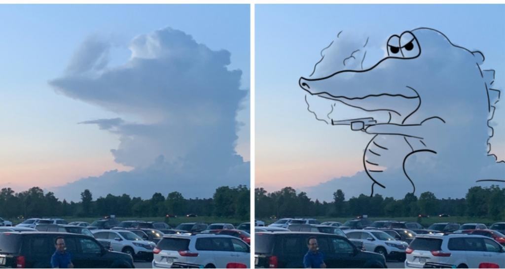 Парящий орел, дракон, акула и другие фигуры, сделанные природой из облаков