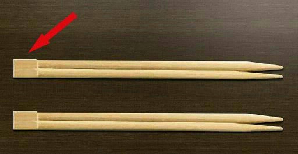 Оказывается, я всегда разламывала палочки для суши неправильно. А ведь у этой небольшой части есть свое предназначение