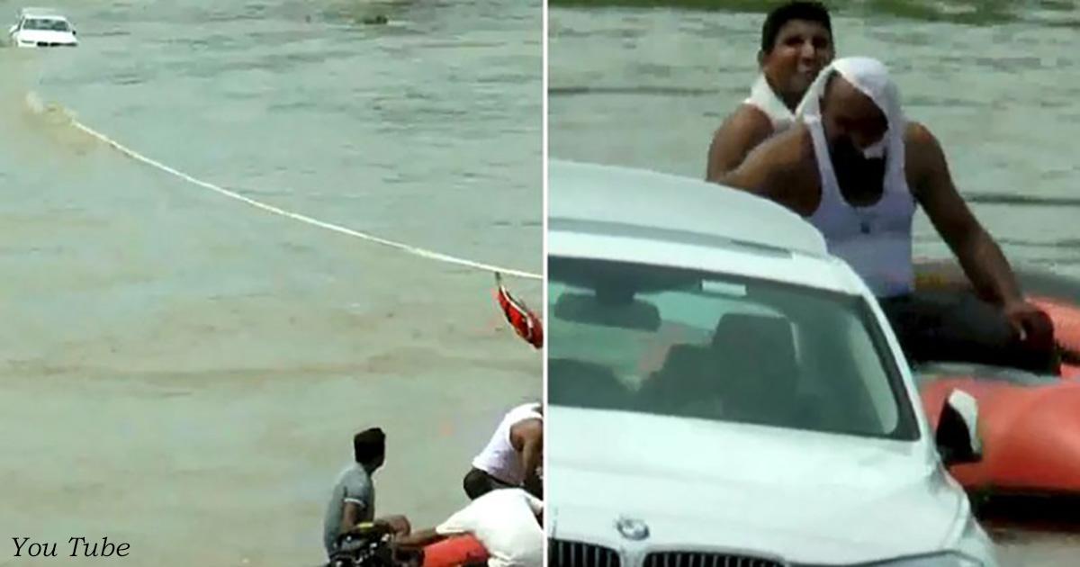 Парень утопил BMW в реке, потому что хотел от родителей Jaguar