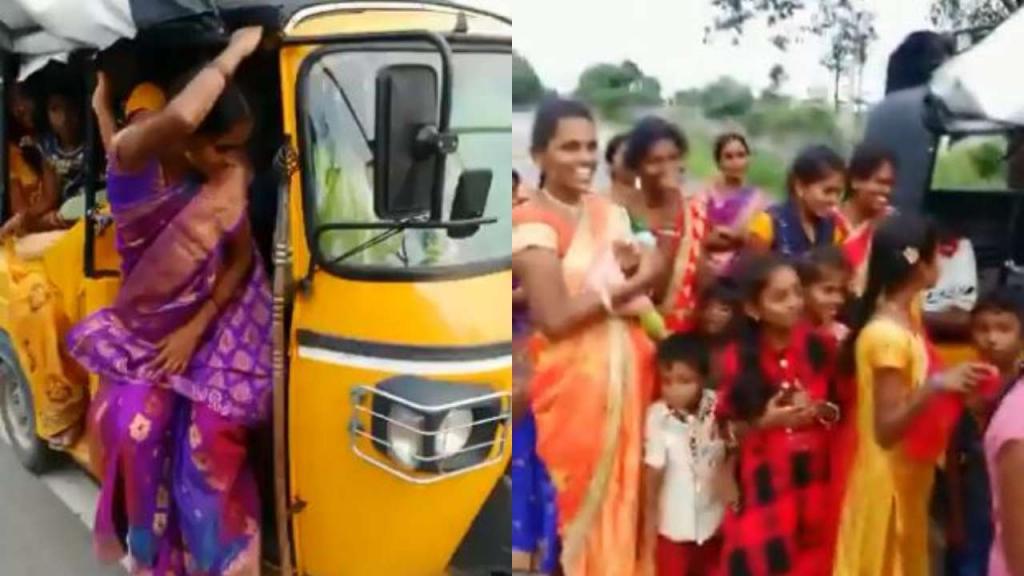 Полицейский остановил моторикшу и из кабинки вышли 24 пассажира: «семейное» фото получилось веселым