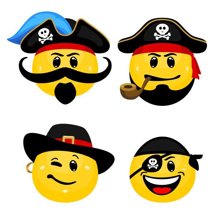 рисунок картинки смайлики с пиратами являлся летней резиденции