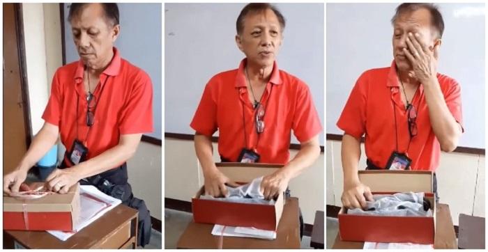 Преподавателю, которому приходится каждый день ходить по 8 км до школы, ученики вручили коробку. Ее содержимое растрогало мужчину