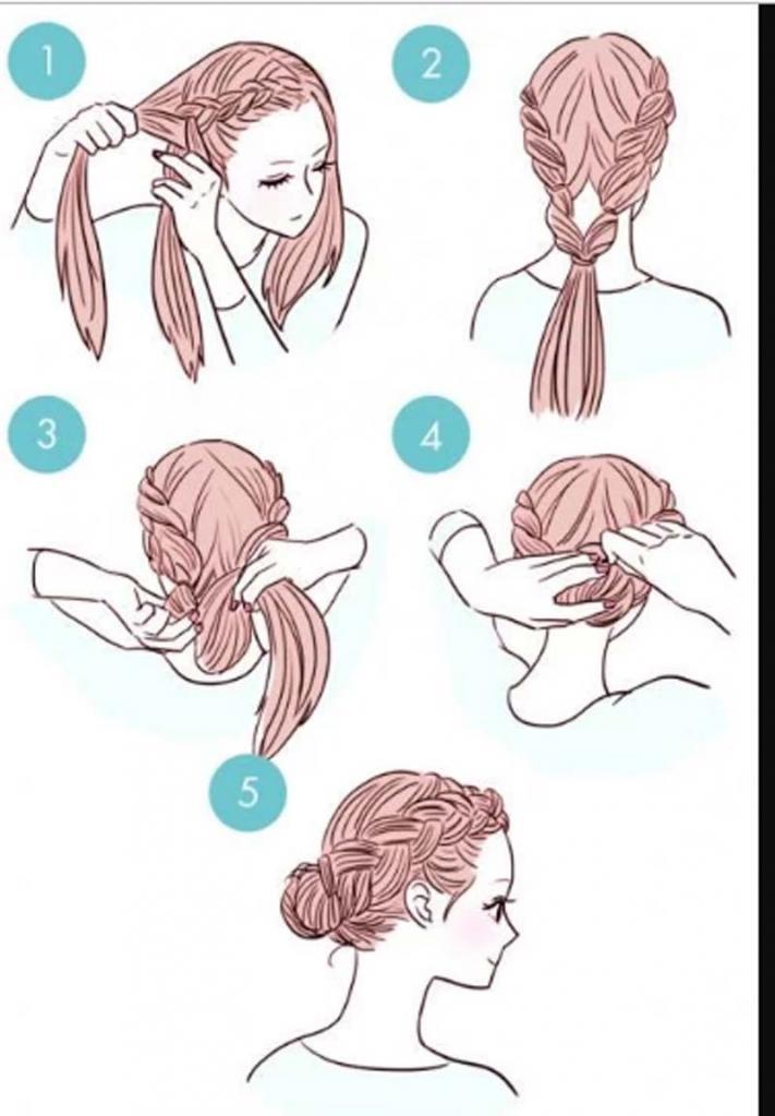Распущенные волосы   это слишком просто. 10 вариантов причесок, которые вы можете сделать за три минуты (пошаговое фото)