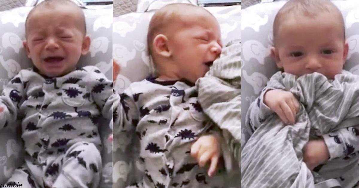 Папа нашёл гениальный способ успокоить 3 месячного малыша. Поможет миллионам!