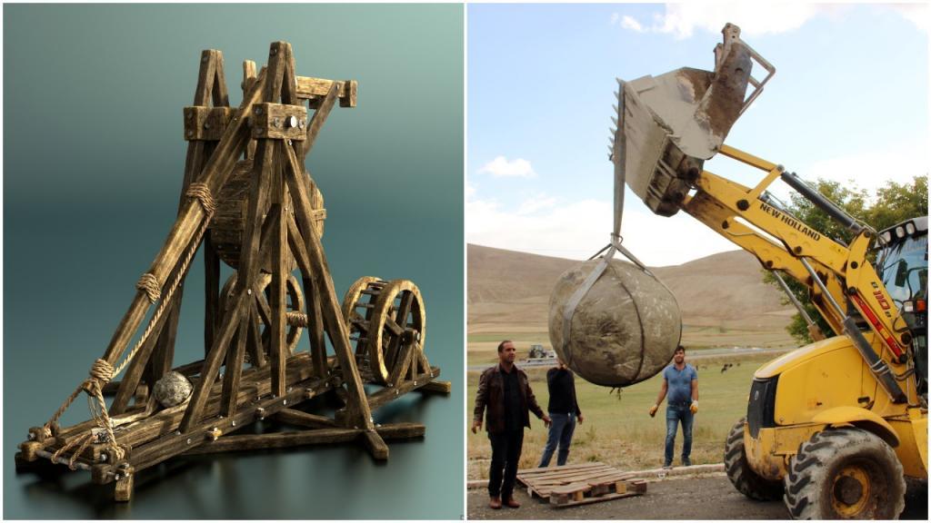 Находка в Эрзуруме: рабочие обнаружили снаряд монгольской катапульты весом около 1,5 тонн
