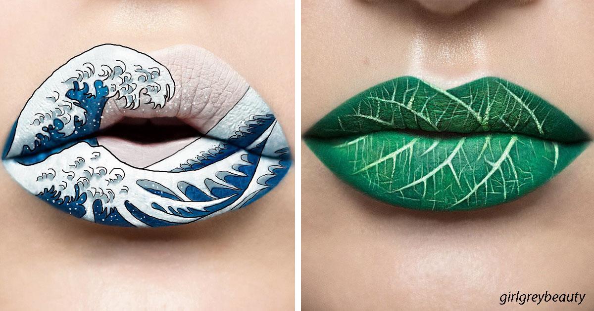 Визажист превращает свои губы в потрясающие произведения искусства