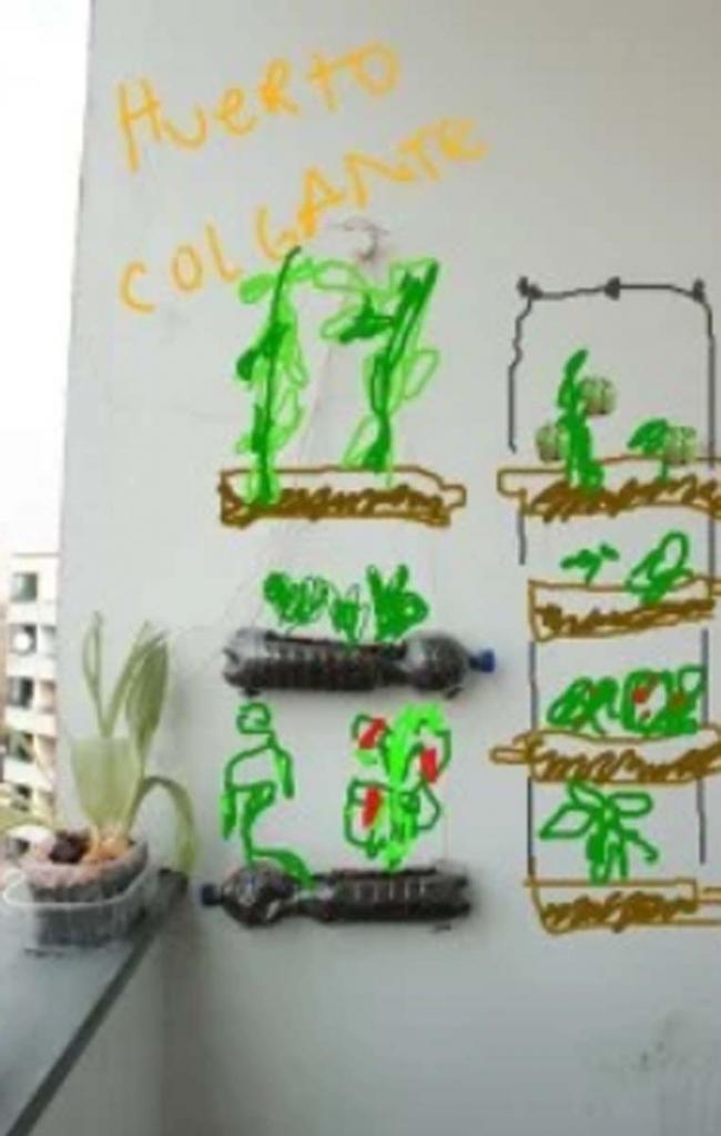 Мастер класс для тех, кто хочет иметь свой висячий сад на балконе и любит  поколдовать  с пластиковыми бутылками