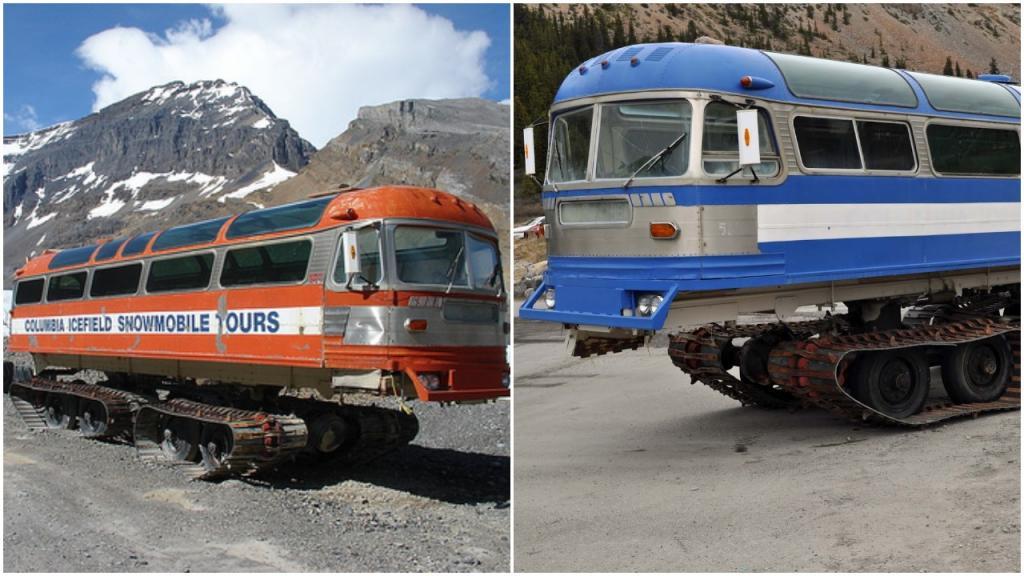 Движение по льду? Без проблем! В Канаде существуют автобусы на гусеницах, которым не страшна заснеженная дорога