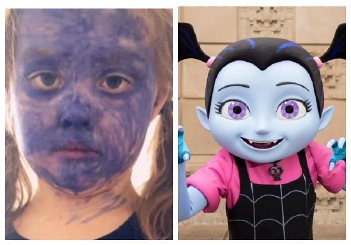 Девочка хотела быть похожа на персонаж из Disney, и теперь ее не узнать: вот только мама такому креативу не рада