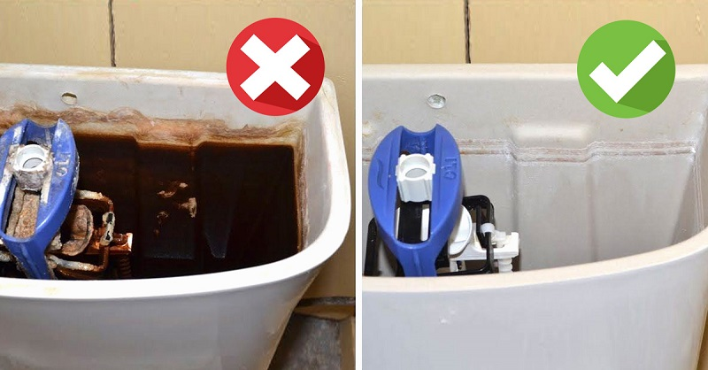 Как я добился идеальной чистоты бачка унитаза: подробная инструкция  генеральной уборки