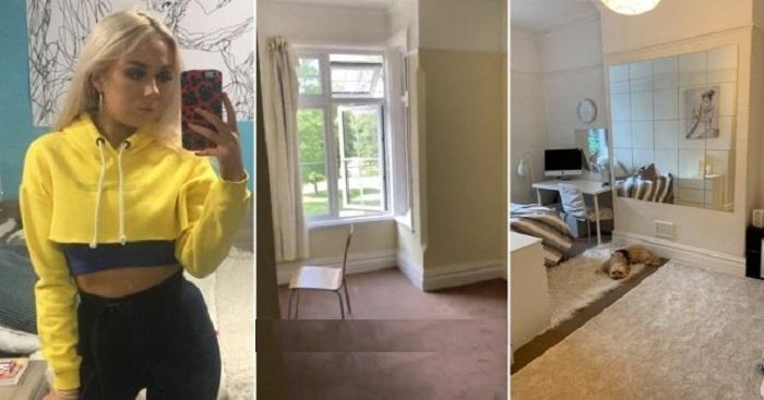 Студентка первокурсница не захотела жить в серой комнате общежития и превратила ее в настоящий  райский  уголок (фото)
