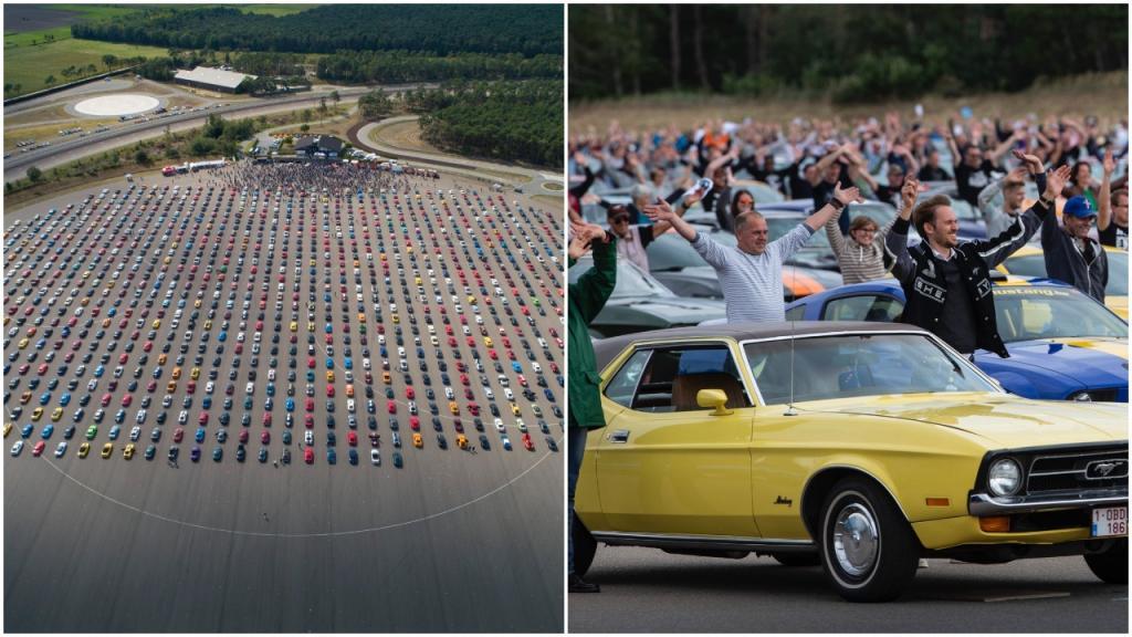Авто парад: владельцам 1326 «Мустангов» со всей Европы удалось побить предыдущий рекорд   960 автомобилей