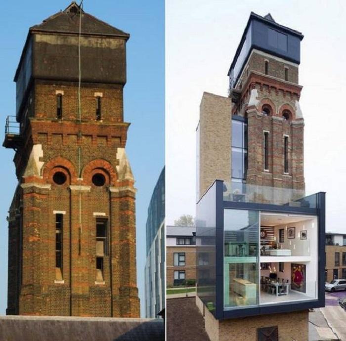Когда пара из Лондона купила водонапорную башню за 0 000, все сильно удивились. После преобразования этот дом оценивают в 9,3 миллиона долларов