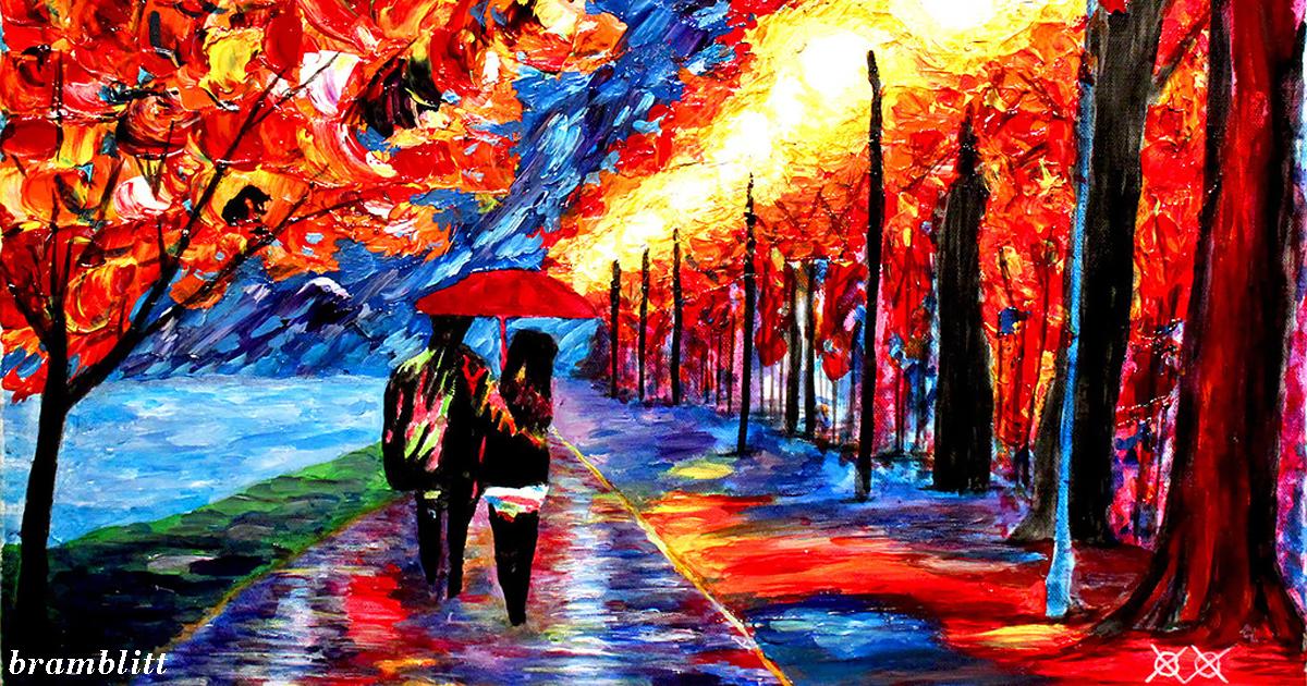 Слепой художник использует прикосновения и текстуры   получаются супер яркие картины