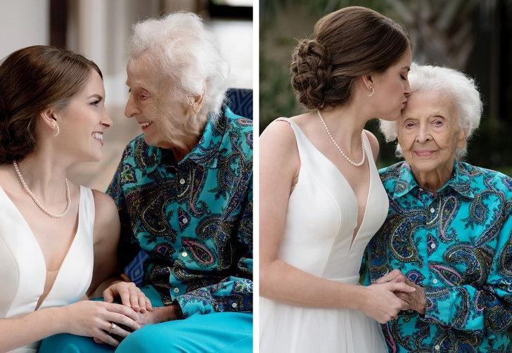 Молодая девушка надела свадебный наряд, чтобы порадовать любимую бабушку и исполнить ее последнее желание