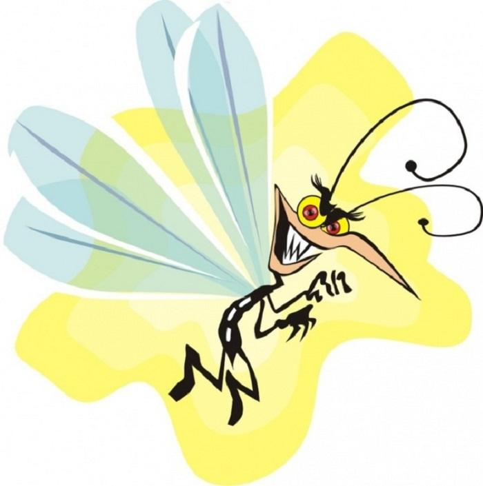 Рисунок, рисунки смешного комара