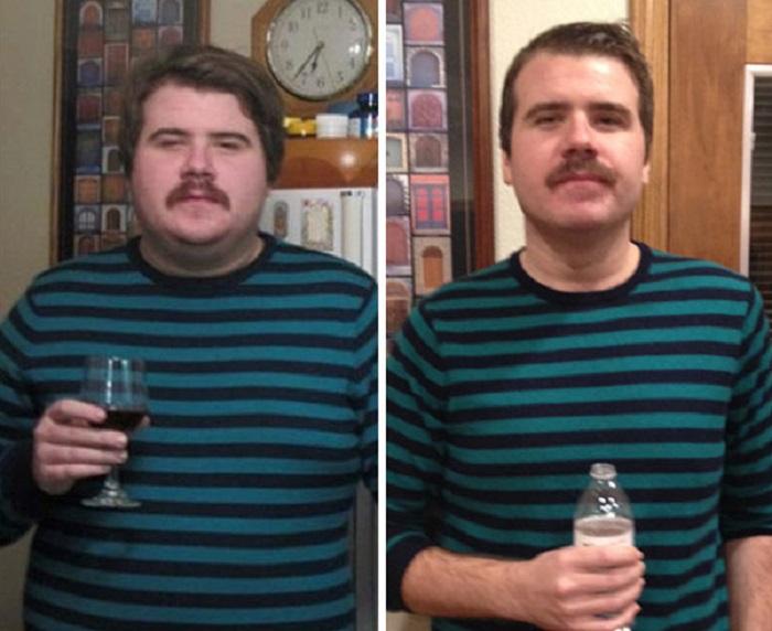 До и после: люди наглядно продемонстрировали то, насколько они изменились, отказавшись от алкоголя