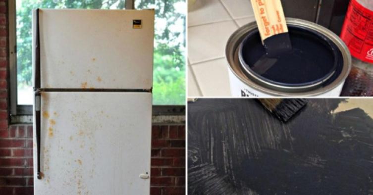 Мой старый холодильник выглядел ужасно, но работал отлично. За несколько часов я изменила его до неузнаваемости, потратив сущие копейки