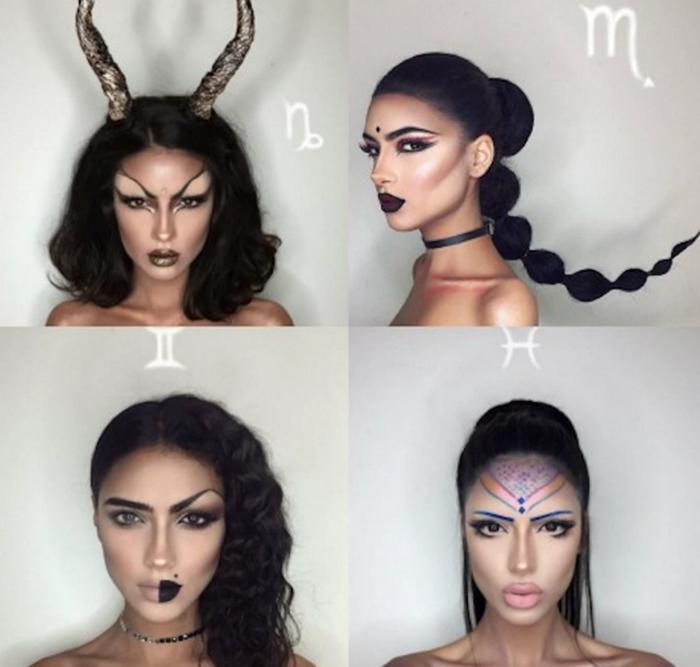 знаки зодиака в макияже картинки ареалом