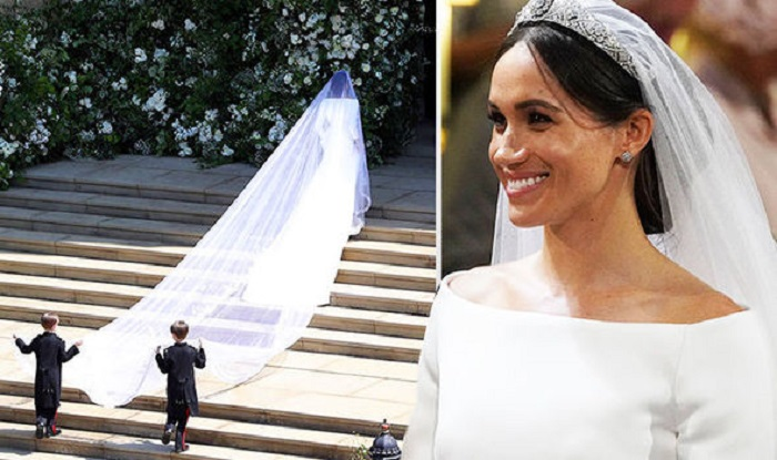 Стилист утверждает, что фата Меган Маркл на свадьбе указывает на то, какую роль хотела бы невеста играть в новой семье