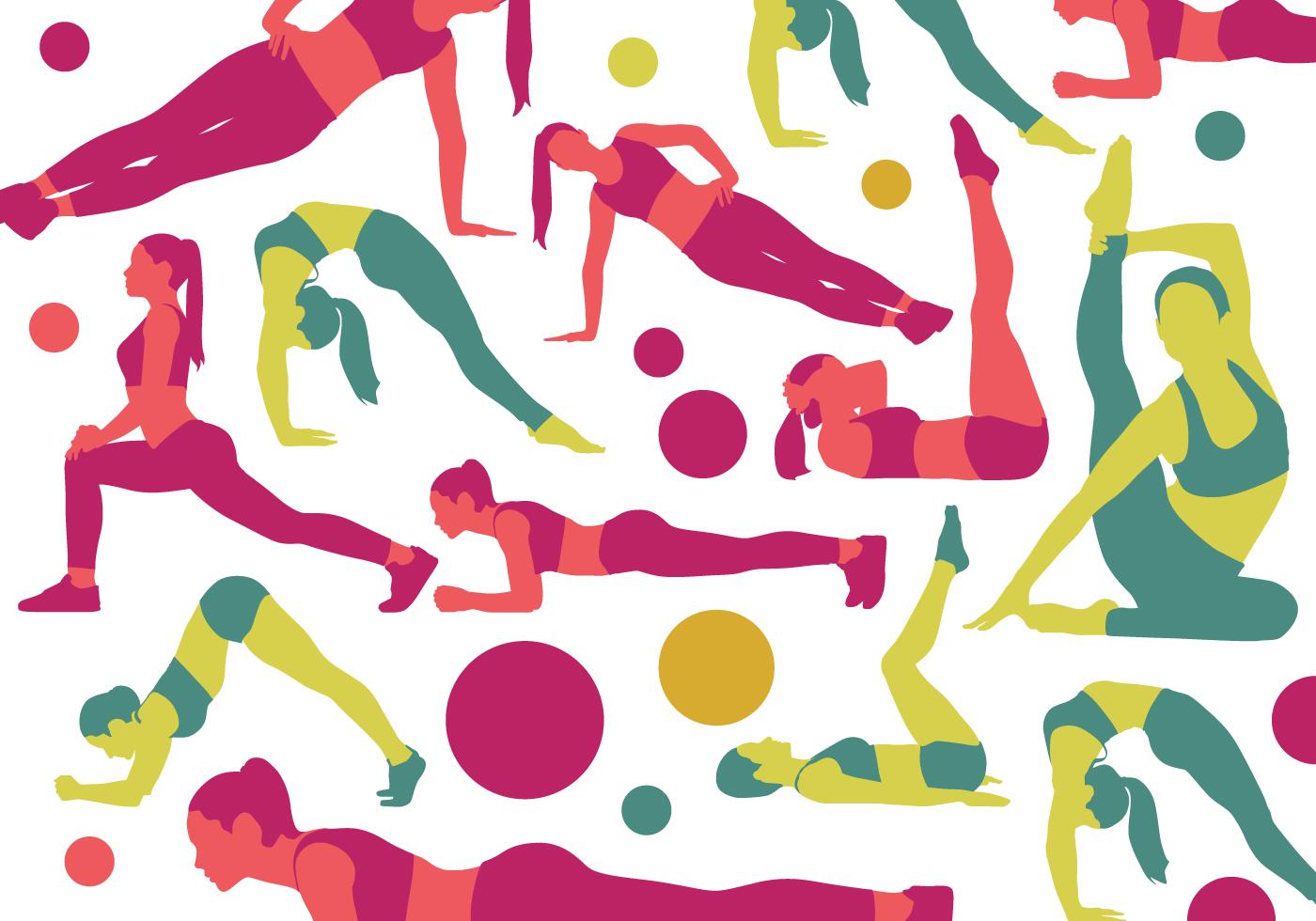 Рисованные картинки по фитнесу