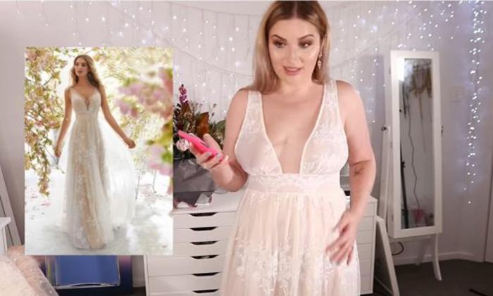 Неудачно сэкономила: девушка заказала свадебное платье, но получила лишь разочарование