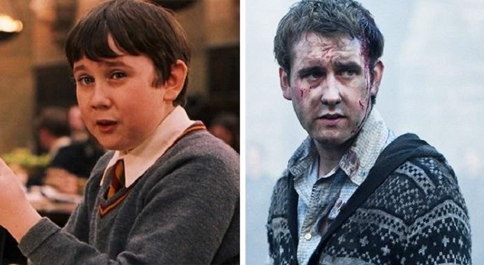 Как выглядели персонажи из наших любимых фильмов в первой и последней части: Невилл Долгопупс превратился в настоящего мужчину
