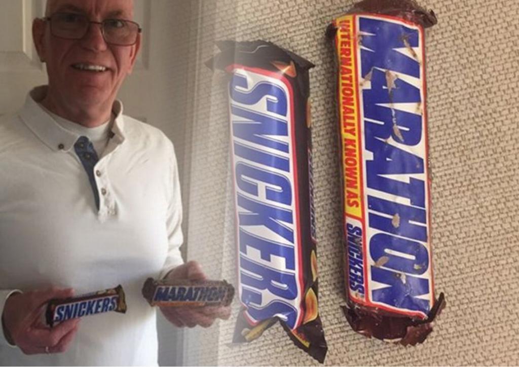 30 лет в баночке: мужчина купил батончик Marathon в тот день, когда название изменили на Snickers