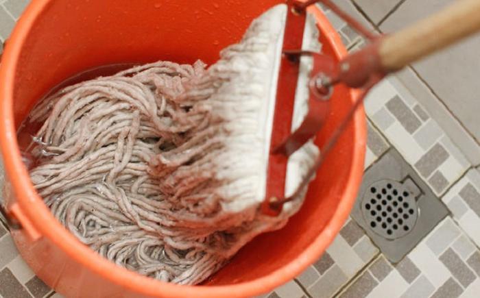 Чтобы отмыть любую грязь с пола, я готовлю средство из копеечных компонентов, которые постоянно имеются под рукой: мой пол всегда самый чистый
