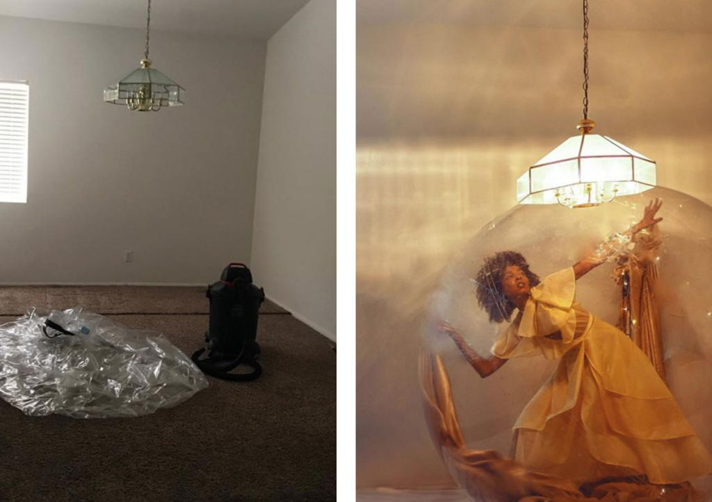 Модель из сети  Инстаграм  создает невероятные фотосцены, которые она позже использует для автопортретов (10 фото)