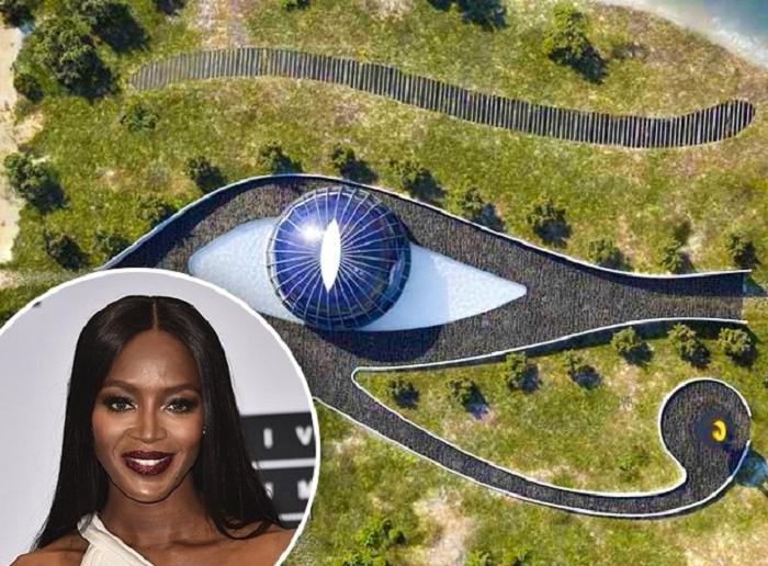 В каких домах живут голливудские звезды? Наоми Кэмпбелл   в экологическом доме в форме глаза