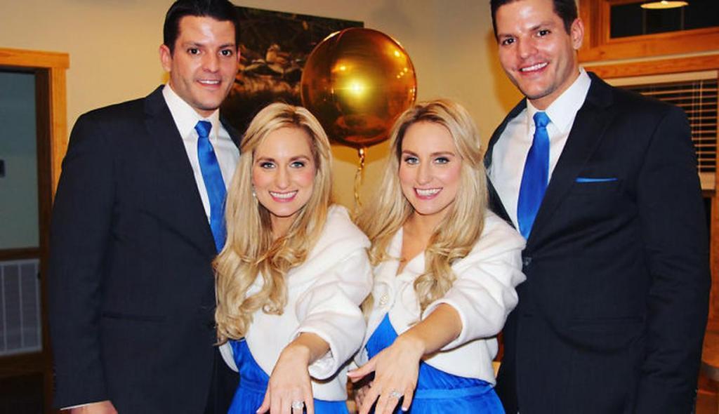 Братья близнецы познакомились с сестрами близняшками и решили сыграть свадьбу в один день