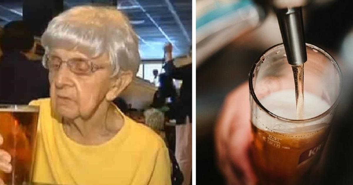 102 летняя женщина раскрыла секрет своей долгой жизни: ″Пейте пиво!″