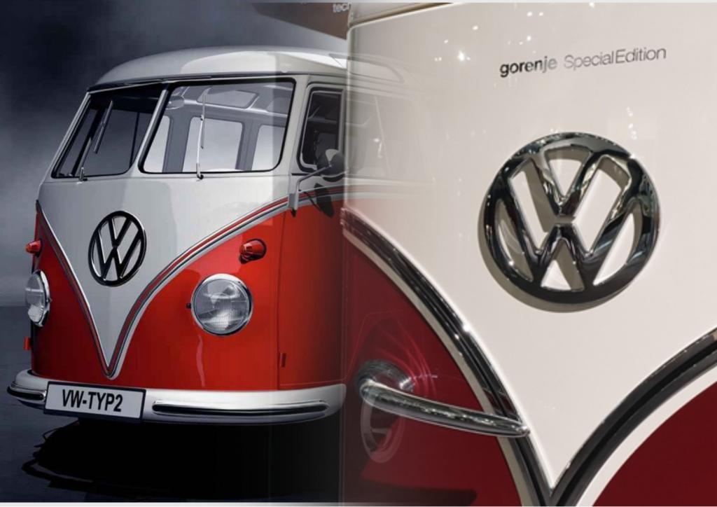 Фольксваген Т1 : легендарный ретро автомобиль нашел новое воплощение в дизайне холодильника