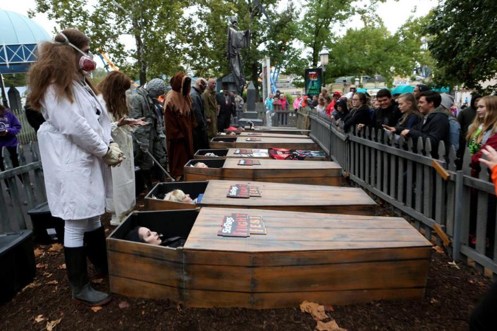 Парк развлечений предлагает влюбленным парам проверить чувства необычным способом – провести 30 часов вместе в гробу. Победители получат 600 $