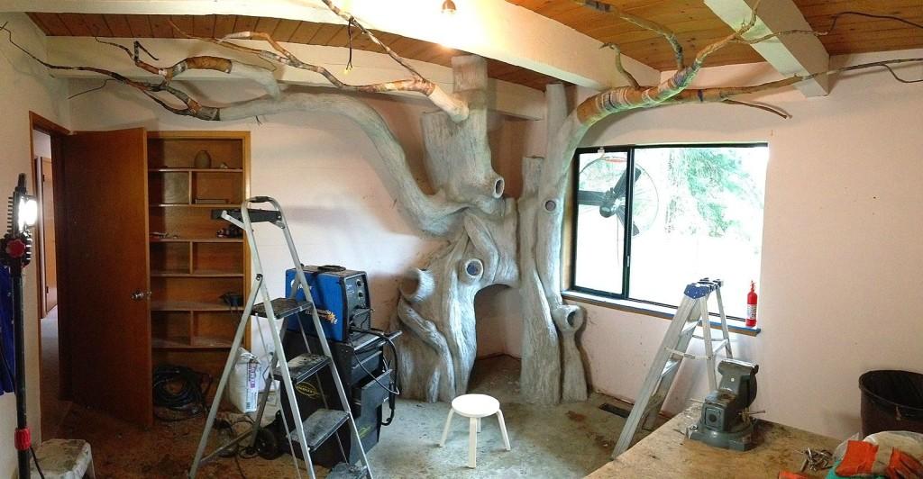 Папа потратил 1,5 года на то, чтобы превратить комнату дочери в волшебный  домик на дереве