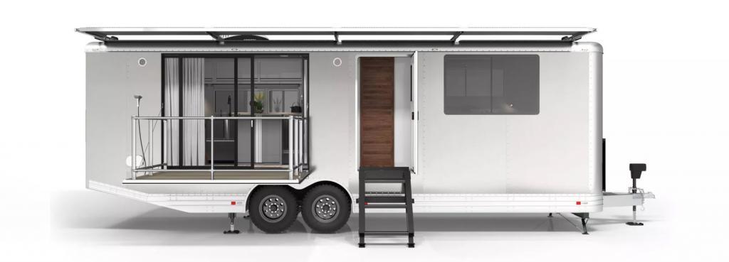 Автономный кемпинг для постоянного проживания: роскошная квартира в алюминиевой оболочке